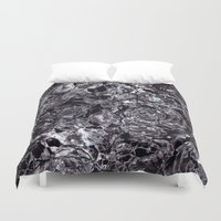 metallic Duvet Covers featuring metallic flowers by clemm