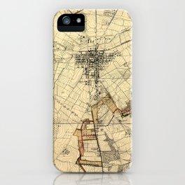 Vintage Gettysburg Battlefield Map (1898) iPhone Case