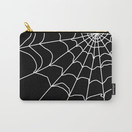 Black and white web . Carry-All Pouch