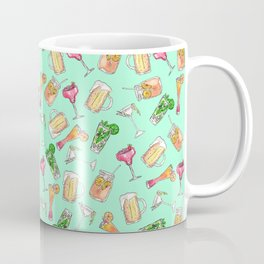 Fun Summer Watercolor Painted Mixed Drinks Pattern Coffee Mug