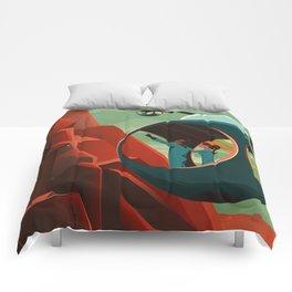 THE VOLCANO OF MARS - Olympus Mons   Space   X   Retro   Vintage   Futurism   Sci-Fi Comforters