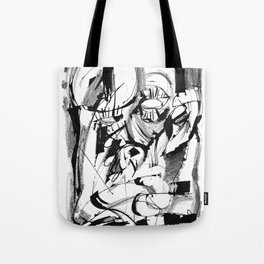 Power of the Mind - b&w Tote Bag