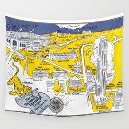 PITTSBURGH University map PENNSYLVANIA  dorm decor Wall Tapestry