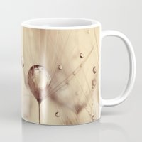 dandelion Mugs featuring dandelion  by Ingrid Beddoes