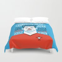 ronaldo Duvet Covers featuring CR7 by hugraphic