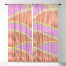 Happy Times - Flower Hills Sheer Curtain