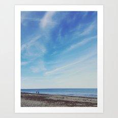 Beach Walkers Art Print