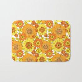Flower bunch orange and yellow Bath Mat