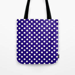 Polka Dot Party in Blue and White Tote Bag