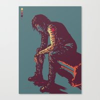 winter soldier Canvas Prints featuring Winter Soldier by ASILLU
