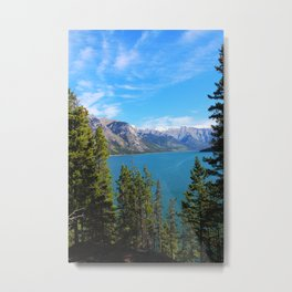 Mountain Lake and Current Metal Print