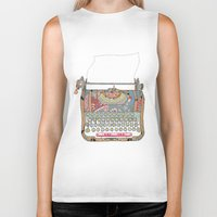 letter Biker Tanks featuring I DON'T KNOW WHAT TO WRITE YOU by Bianca Green