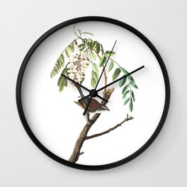 Chipping sparrow, Birds of America, Audubon Plate 104 Wall Clock
