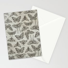 Lepidoptera Beige Stationery Cards