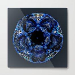 Electric Blue Planet Metal Print