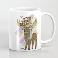 legolas Mugs featuring Party Legolas and Gimli  by BlacksSideshow