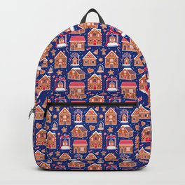 Gingerbread Houses and Sweets Candies - Blue Backpack