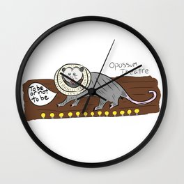 Opossum Theatre Wall Clock