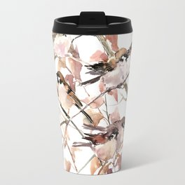 Sparrows in the Fall Travel Mug