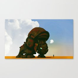 My little pet rhino Canvas Print