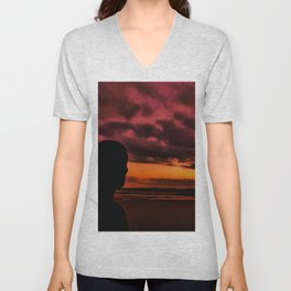 Watching the Sun go down Unisex V-Neck