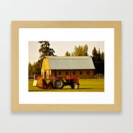 Lonely Tractor  Framed Art Print