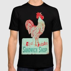 Red rooster SMALL Black Mens Fitted Tee