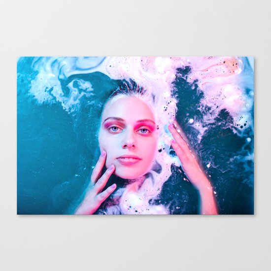 She Comes from the Sea Canvas Print