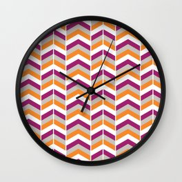 Pretty chevron pattern Wall Clock
