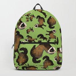 Brave Polecat ( Mustela putorius ) Backpack
