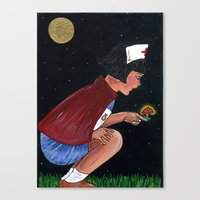 nurse Canvas Prints featuring nurse by Karen Constance Collage and Paintings
