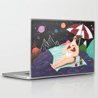 outer space Laptop & iPad Skins featuring Vacation In Outer Space by Ellie Yeonhee Seo