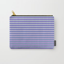 Purple, Light Gray, and Blue Colored Lined Pattern Carry-All Pouch