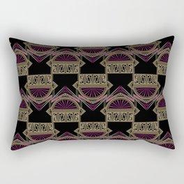 Seamless antique art deco pattern ornament. Geometric stylish background repeating texture Rectangular Pillow