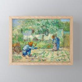 Vincent Van Gogh - First Steps, after Millet Framed Mini Art Print