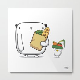 OPi Buy Vegetables Metal Print