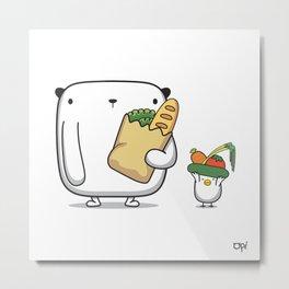 OPi Buy Vegetables Metal Print