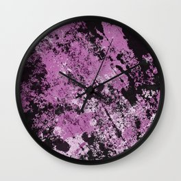 Abstract Texture Deux - Purple, White and Black Wall Clock