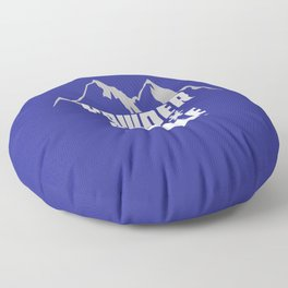 Powder to the people – skiing – snow boarder - mountains Floor Pillow