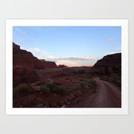 Canyon Road Art Print
