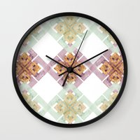 clover Wall Clocks featuring Clover by Wood + Ink