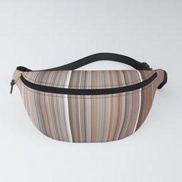 Natural Brown Tan Stripe Design Fanny Pack