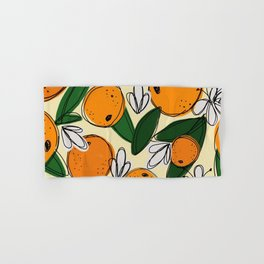 Oranges in Bloom Hand & Bath Towel