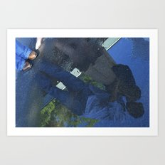 Reflection in the Puddle  Art Print