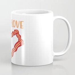 Keto Love Saying Ketogen Keton Bacon Heart Gift Coffee Mug
