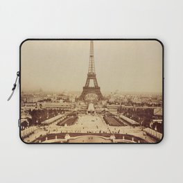 Eiffel Tower and Champ de Mars 1889 Paris Laptop Sleeve
