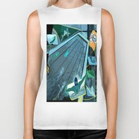 swimming Biker Tanks featuring Swimming by Robin Curtiss