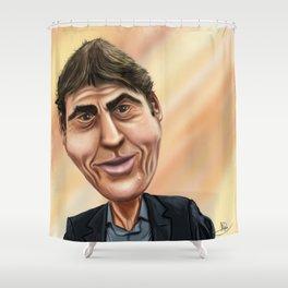 Rudi Garcia Caricature Shower Curtain