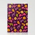 Neon Halloween Pattern - Purple Background by goddammitstacey