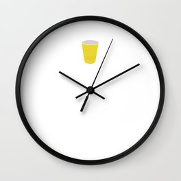 Letters Down Bottoms Up Drinking Beer T-Shirt Wall Clock